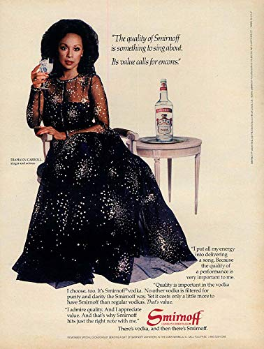 Encore Value Pack - Its value calls for encores Diahann Carroll for Smirnoff Vodka ad 1983 L