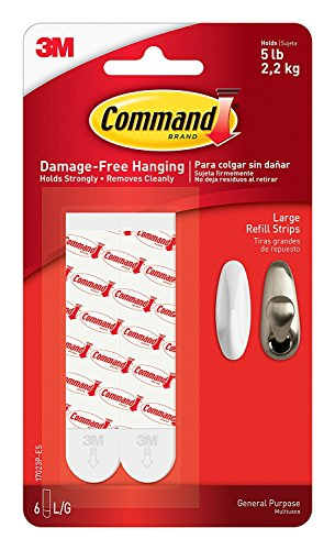 Command Refill Strips, Large, White