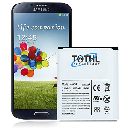 TQTHL 4000mAh Best Replacement Battery for Samsung Galaxy S4 Active i9295 i537 Phone.(1 Battery)