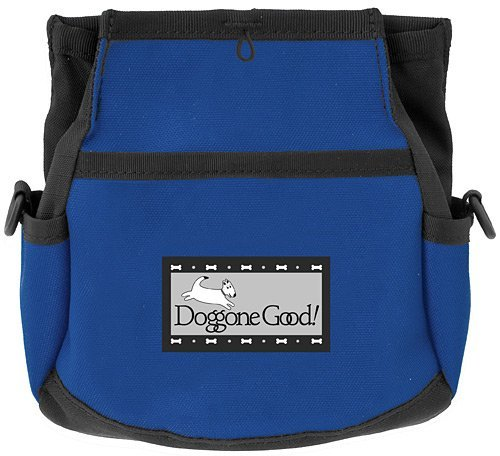 Rapid Rewards Deluxe Dog Training Bag with Belt by Doggone Good  (bluee)