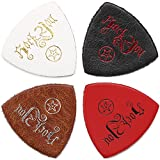 Anwenk Ukulele Picks Genuine Leather Ukulele Picks Top Grade Multi-Color,4Pack