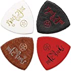 Anwenk Ukulele Picks Leather Ukulele Bass Picks Soft Genuine Leather Top Grade Multi-Color,4 Pack