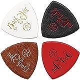 Anwenk Ukulele Picks Leather Ukulele Bass Picks Soft Genuine Leather Top Grade Multi-Color,4 Pack