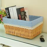 storage basket/ rattan storage box/Desktop snack debris basket in the kitchen-J 27x17cm(11x7inch)