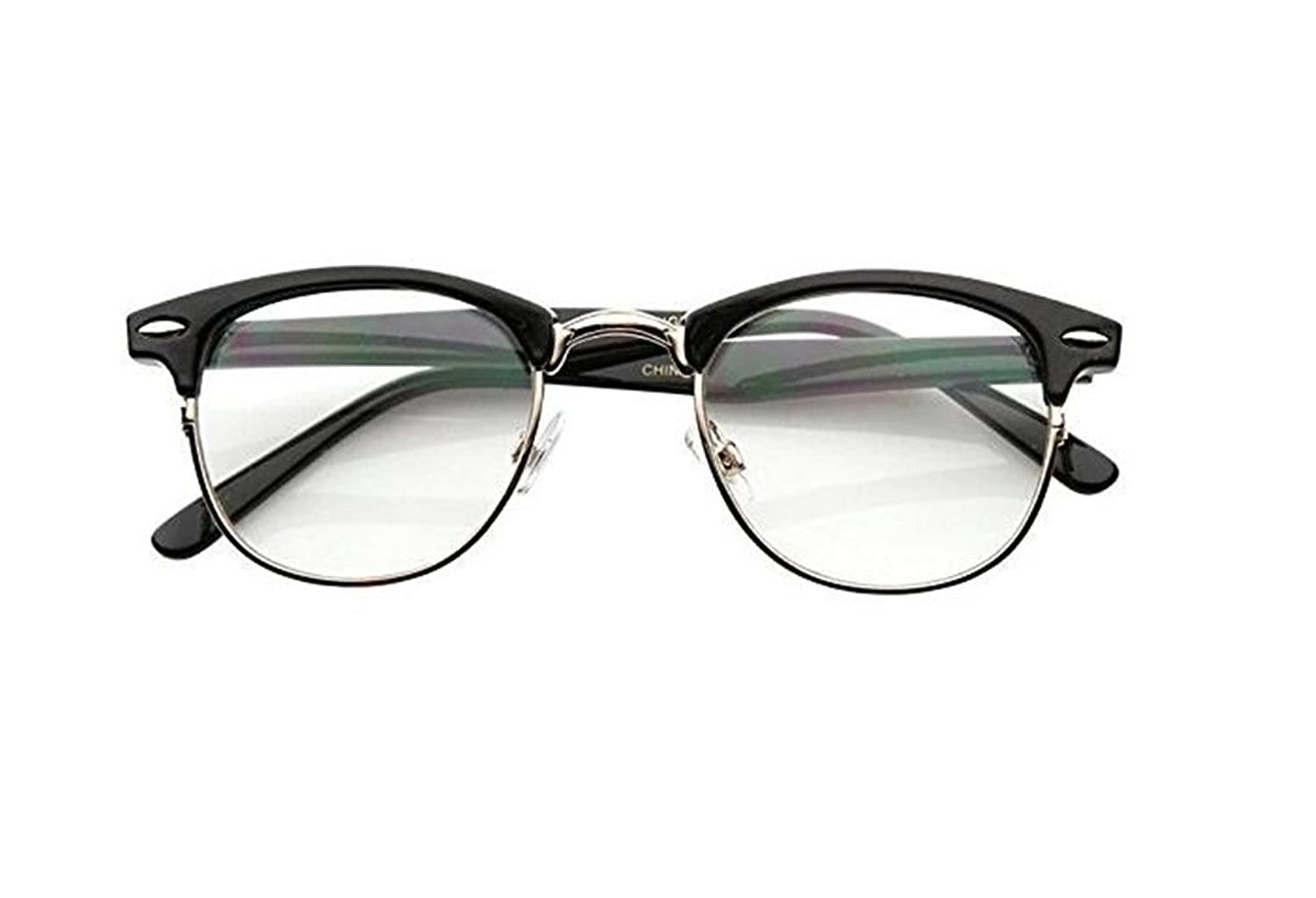Amazon.com: Malcolm X Horn Rimmed Glasses Frames Black Silver ...