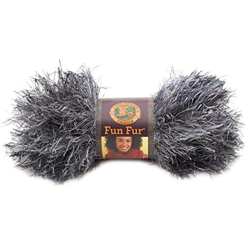 Lion Brand Fancy Fur (Lion Brand Yarn 320-204 Fun Fur Yarn, Lava)