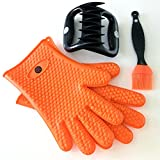 TAILGATE SPECIAL - 3 in 1 Bundle: Meat Shredder Claws | Heavy Duty Silicone Gloves | Silicone Brush - Value pack of Amazon Best Sellers
