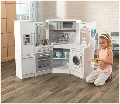 kidkraft ultimate corner play kitchen set white real food rh amazon ca