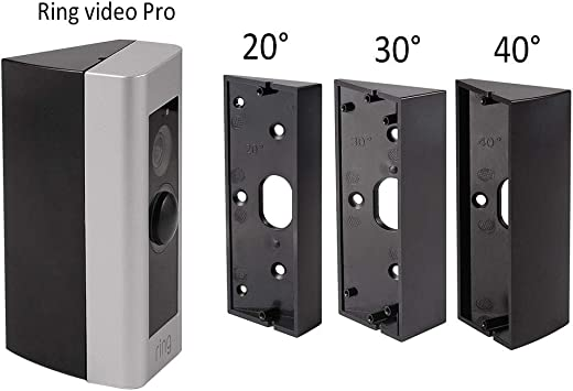 AAdjustable Angle Mount Ring Video Doorbell Adapter Mounting Plate Bracket Wedge