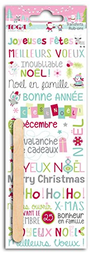 - Toga rop76Christmas at The North Pole Rub-Ons Novelty Transfer Tattoos Colourful Plastic Board 7.5x 23.5x 0.3cm
