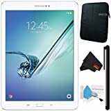 Samsung 32GB Galaxy Tab S2 9.7'' Wi-Fi Tablet (White) SM-T813NZWEXAR + Deluxe Cleaning Kit + MicroFiber Cloth + Universal Stylus for Tablets + Tablet Neoprene Sleeve 10.1'' Case (Black) Bundle