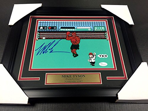 Framed Iron Mike Tyson Authentic Autographed Signed 8x10 Punch Out Photo Tri Star - JSA Certified - Autographed Boxing Photos (Signed Photo 8x10 Framed)