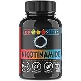 Nicotinamide 500 mg 100 Niacinamide Veggie Capsules - Vitamin B3 - Flush Free Niacin Formula - Support Energy Production, Metabolism, Niacinimide - Gluten Free - Vegetarian - Non GMO-GMP- By Dr. Seth