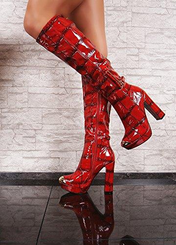 Jennika JennikaSully190 - Zapatillas altas mujer Red
