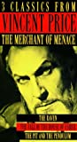 3 Classics from Vincent Price, The Merchant of Menace: The Raven, The Fall of the House of Usher & The Pit and the Pendulum (3 Video Boxed Set of Edgar Allen Poe Writings)