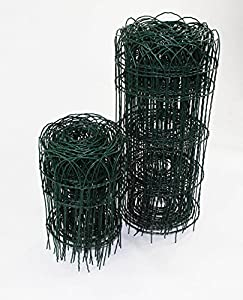Garden Border Lawn Edging 10m X 400mm Or 650mm PVC Coated Green Wire Fencing  (1, 650mm Height 513)
