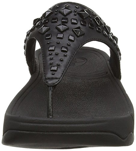 Flat Sandals Chic Women's Black Biker Fitflop q0w4Cfn