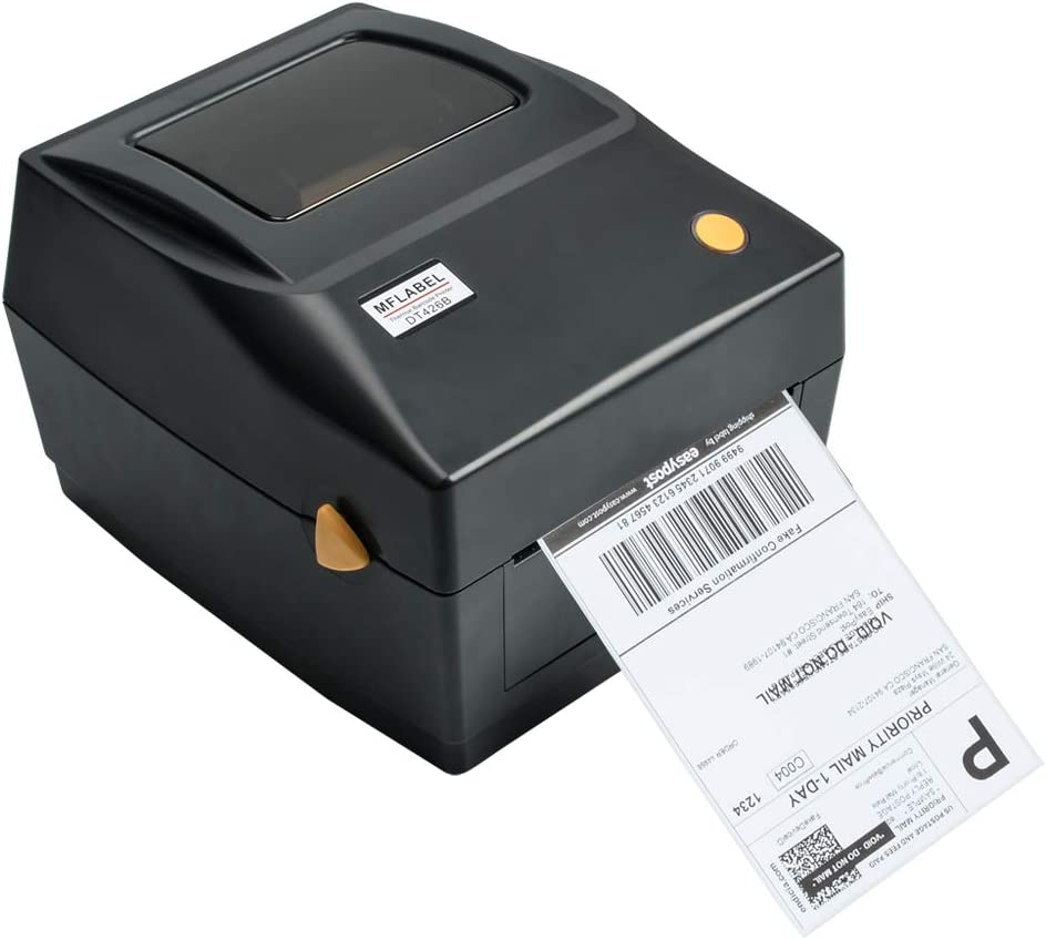 MFLABEL Label Printer, 4x6 Thermal Printer, Commercial Direct Thermal High Speed USB Port Label Maker Machine, Etsy, Ebay, Amazon Barcode Express ...