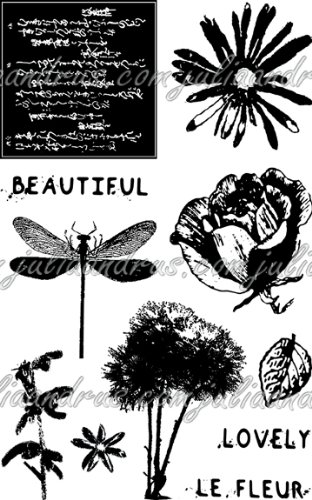 Eco Green Crafts Recycled Rubber Stamps, Petal Party by Eco Green Crafts