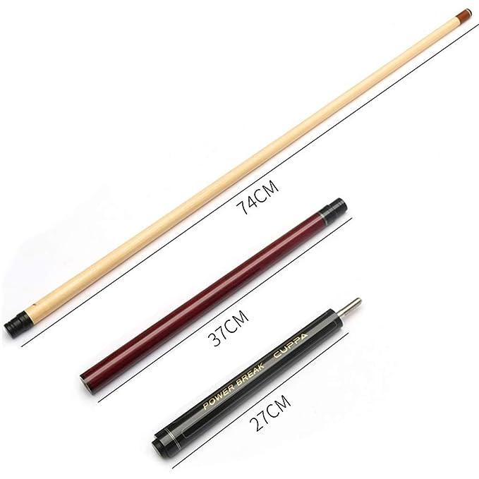WXS Billard Queue 120cm handgefertigter Ahorn 1//2 Joint Adult Haushalt Sehr guter Griff 13mm Spitze