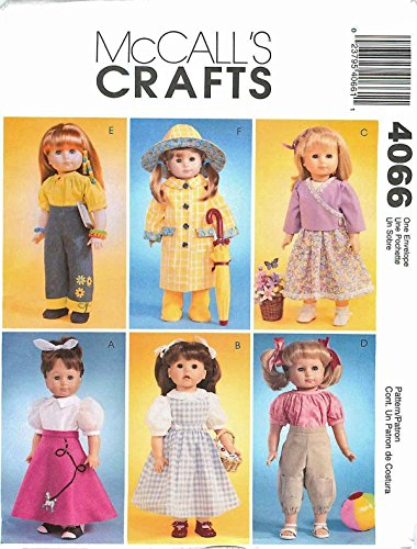 McCall's 4066 18 inch Girl Doll Clothes Pattern Raincoat Poodle Skirt Knickers supplier_paulastreasuredfinds