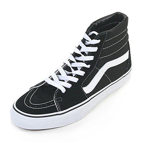 Vans Unisex Sk8-hi Blackblackwhite Skate Shoe 7 Men Us 8.5 Women Us