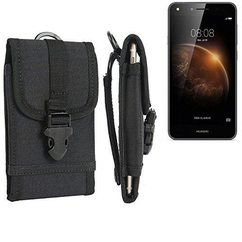 bolsa del cinturón / funda para Huawei Y6 II Compact, negro | caja del teléfono cubierta protectora bolso - K-S-Trade (TM)