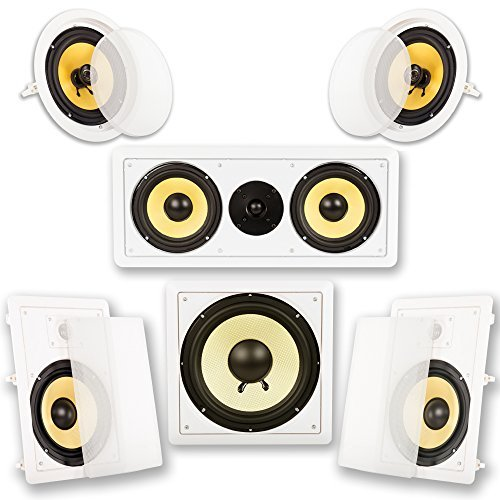 Acoustic Audio HD518 5.1 Home Theater Speaker System (White) [並行輸入品] B078G6VCZY