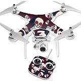 MightySkins Protective Vinyl Skin Decal for DJI Phantom 3 Standard Quadcopter Drone wrap cover sticker skins Skulls N Roses