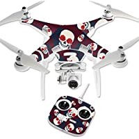MightySkins Protective Vinyl Skin Decal for DJI Phantom 3 Standard Quadcopter Drone wrap cover sticker skins Skulls N Roses