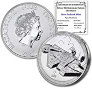 2021 NZ Niue 1 oz Silver Millennium Falcon Coin Brilliant Uncirculated with Certificate of Authenticity by Coi