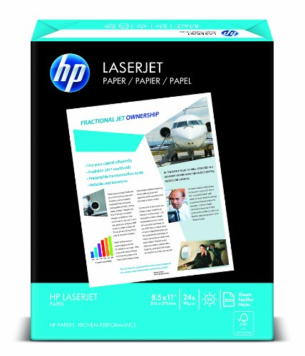 HP Paper, LaserJet Poly Wrap, 24Lb, 8.5x11, letter, 98 Bright, 500 Sheets / 1 Ream (115400R), Made In The USA