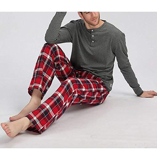 Los Pijamas Larga La Pantalones De Mehrfarbig Algodón Hombres Camisa Joven PC7xfwqIP