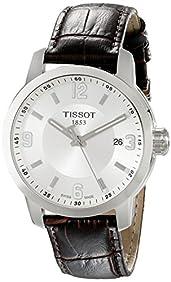 Tissot Men's TIST0554101603700 PRC 200 Analog Display Swiss Quartz Brown Watch