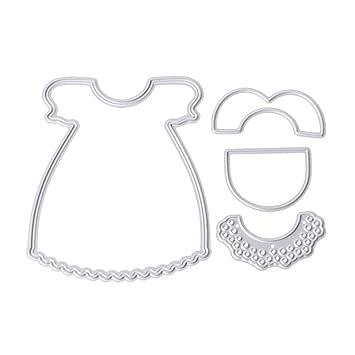 Chone, diseño de vestido de corte de metal muere Plantillas para DIY Scrapbooking álbum molde: Amazon.es: Juguetes y juegos