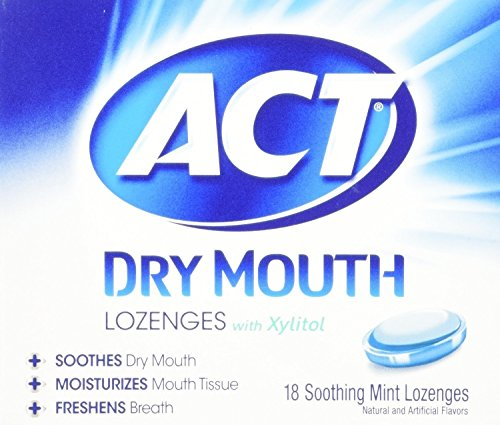 ACT Dry Mouth Lozenges Mint, Mint 18 Each (Pack of 4)