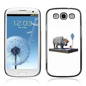 YOYOSHOP [Funny Rhino On The Street] Samsung Galaxy S3 Case