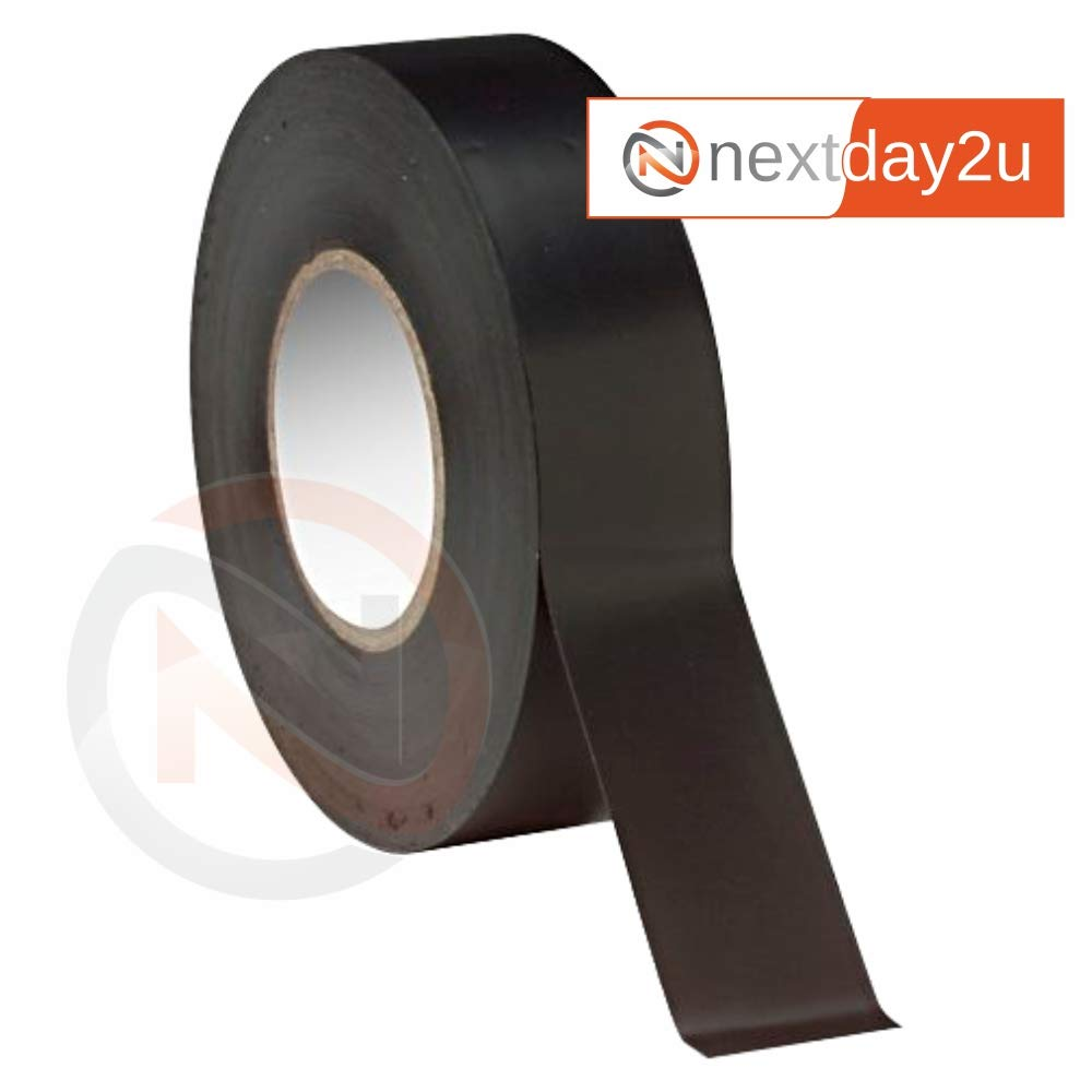 Insulation Tape PVC Electrical 19mm x 18m Black (3) HUAERDE