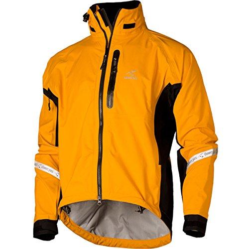(Showers Pass Waterproof Breathable Men's Elite 2.1 Cycling Jacket (Gold - Medium))