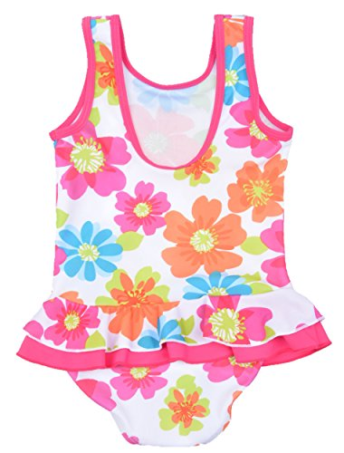 One Piece Swimsuit for Little Girls US 3T Flower