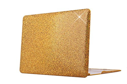 HYAIT Bling Artificial Crystal White Stone Zircon Diamond Ultra Slim Hard Case For 11.6-inch Apple MacBook Air A1370 & A1465 - GOLD