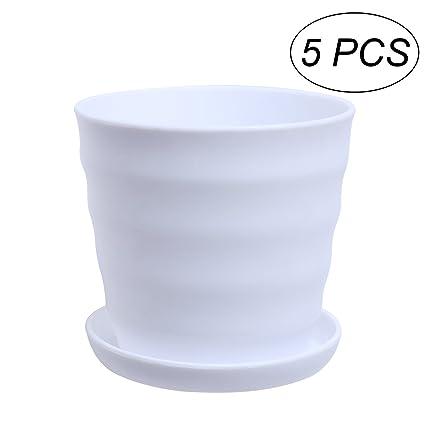 Amazon.com: VORCOOL - Macetas de resina con forma de círculo ...