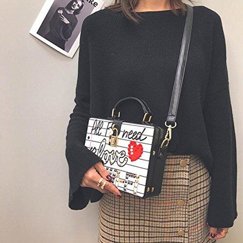 caja de para del los las Bags clubs de Crossbody Top personalidad Bolso Handle Crossbody la bolso muchachas Black del del de boda del la bolso partido la de bolso de de zBwwxgq7