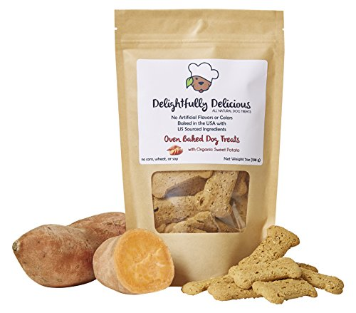 All Natural Oven Baked Dog Treats with Organic Sweet Potato (Potato Treats Sweet Organic Dog)