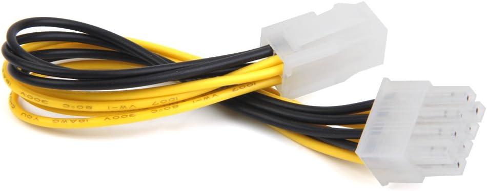 Magideal Atx 4 Pines Macho A EPS De 8 Pines Cable De Alimentacion De Energia De La CPU Hembra Adaptador