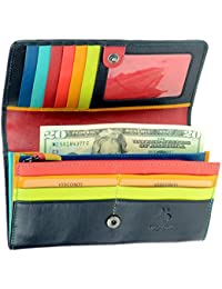 STR4 Women s Secure RFID Blocking Large Leather Trifold Clutch Wallet Purse 5bbb034535ef9