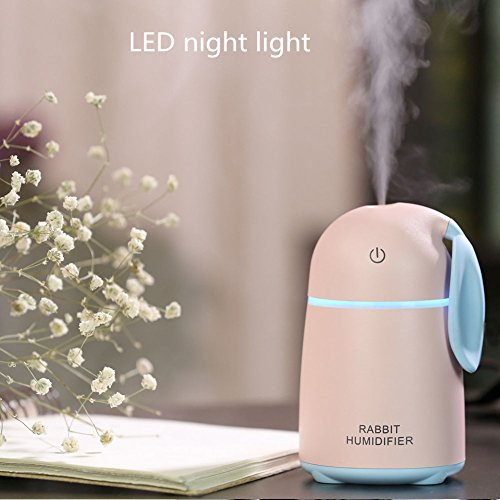 Aromatherapy Essential Oil Diffuser Cool Mist Humidifier Xxml Ultrasonic With LED Light Perfect For Home,Office,Living Room,Spa,Car,Pink by L&X (Image #5)