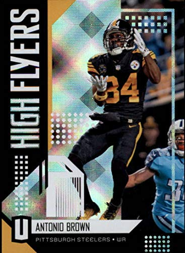 2018 Unparalleled Football High Flyers #1 Antonio Brown Pittsburgh Steelers Official NFL Trading Card made by Panini ()