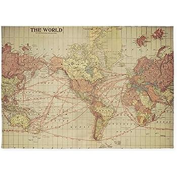 Amazoncom CafePress Vintage World Map Decorative Area Rug - Old world map rug