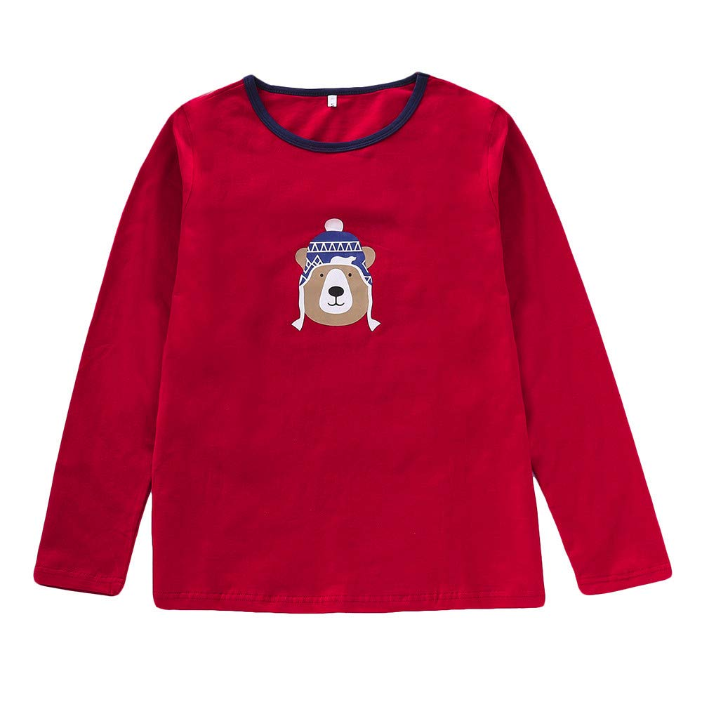 Lurryly❤Family Matching Pjs for Christmas Kids Women T Shirt Pants Pajamas Sleepwear Outfits